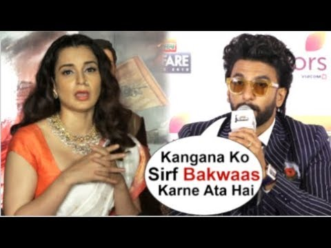Ranveer Singh INSULTS Kangana Ranaut For Making FUN Of Him In Front Of Media At Filmfare Awards