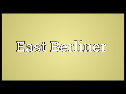 East Berliner Meaning