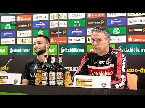 23. Spieltag | SGD - FSV | Pressekonferenz vor dem Spiel