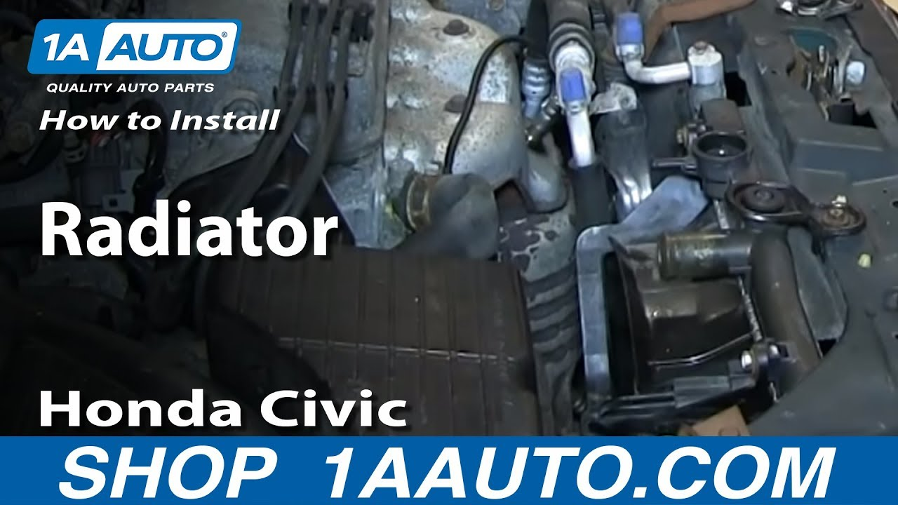 how to install remove replace radiator 1992 00 honda civic [ 1280 x 720 Pixel ]