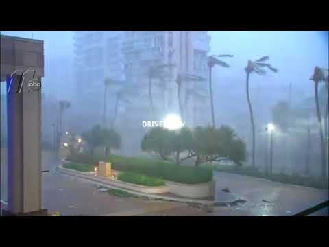 REAL FOOTAGE :  HURRICANE ''MARIA''  SLAMS ''SAN JUAN, PUERTO RICO'' (SEP. 20, 2017)