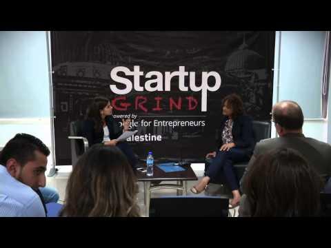 Huda Al Jack (Pallease) at Startup Grind Palestine
