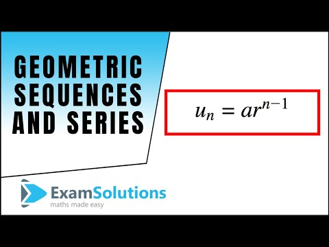 Geometric Series / Sequence : Example (1) : ExamSolutions