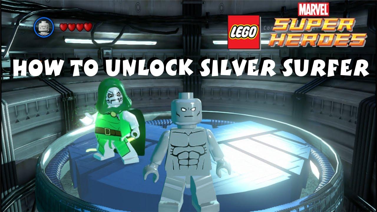 marvel lego unlock silver surfer
