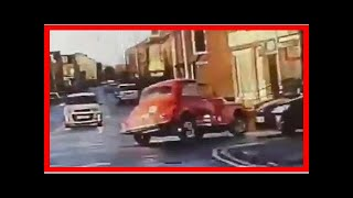 Classic car leads police on chase through town in wild video | k production channel