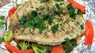 РЫБА С ОВОЩАМИ в фольге.  Полезный ужин. Fish with Vegetables