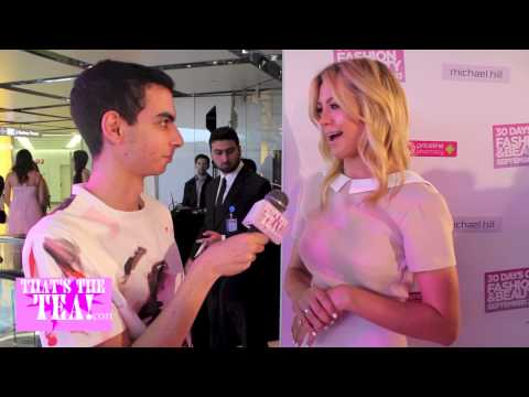 That's The Tea interview Jesinta Campbell at the 30 Days Of Fashion And Beauty launch event!
