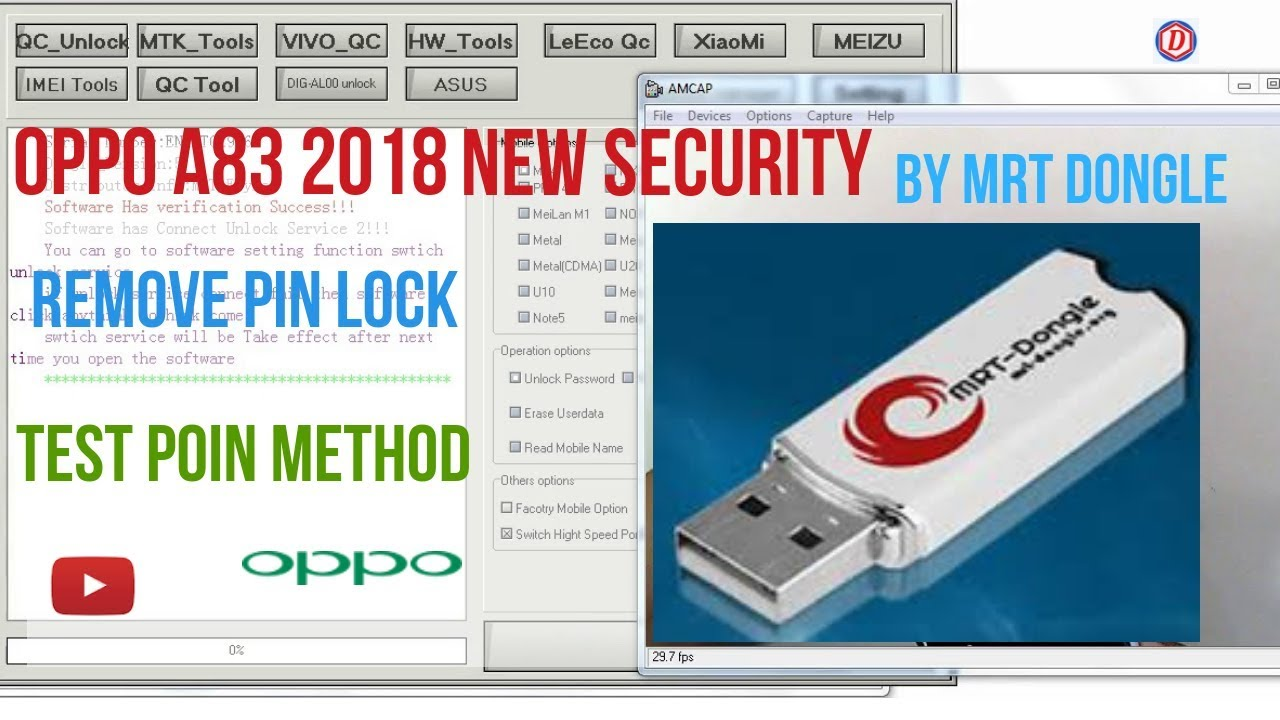 oppo a83 2018 (New Scurity) Unlock Pasword(Test Point Method) By MRT