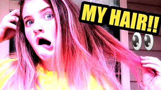 HOW to DYE HAIR [FAMILY VLOGGERS]😱NATURAL PINK HAIR? 2018