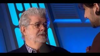 George Lucas And J.J. Abrams Interview - Star Wars The Force Awakens European Premiere Red Carpet