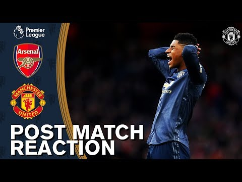 Solskjaer & Young rue missed chances in Arsenal defeat | Arsenal 2-0 Manchester United | Reaction