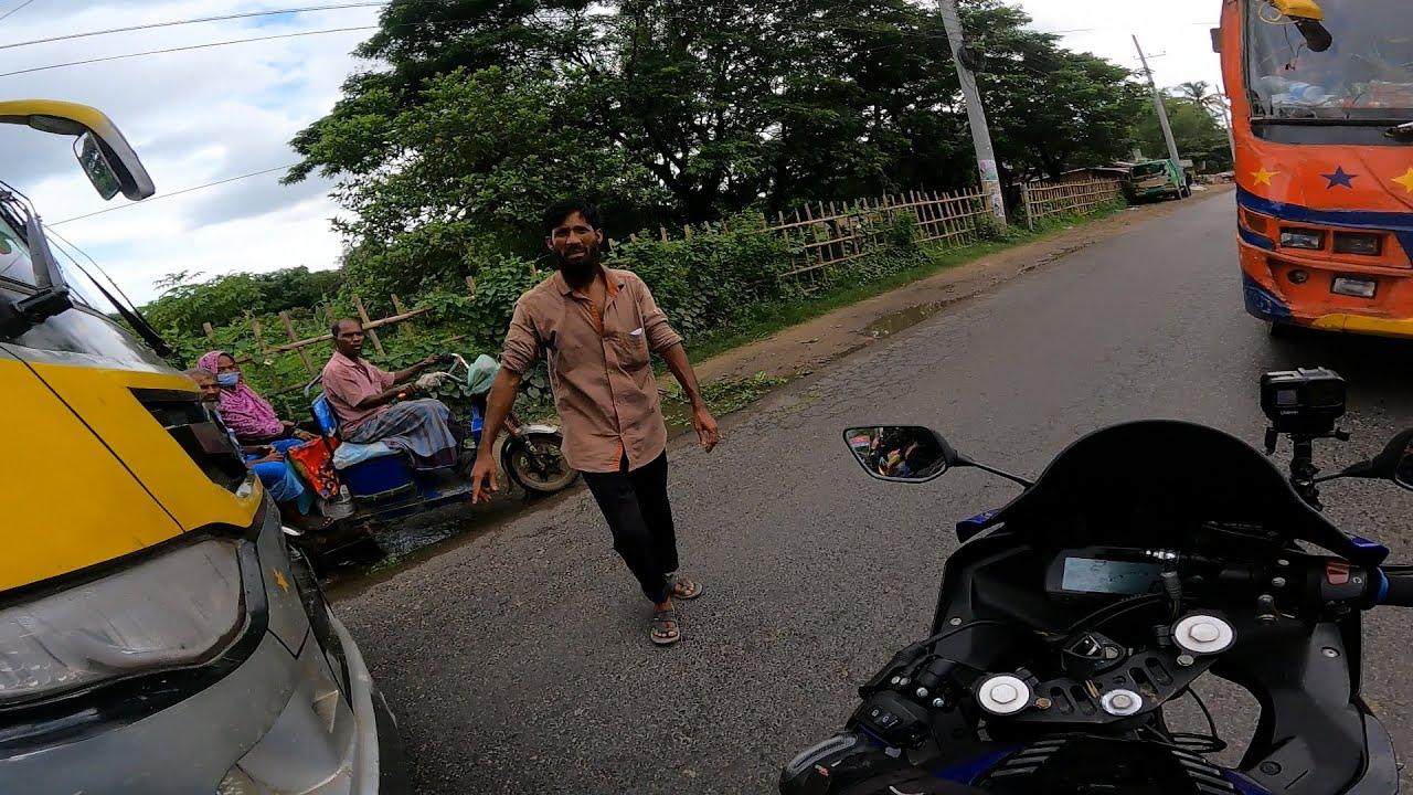 কক্সবাজারে বাসের চিপায় ফেঁসে গেলাম !!!  Cox's bazar TO Dhaka Bike Ride | Moto Vlog
