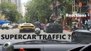 Supercars and Public reactions | Supercars in Mumbai | India | June 2019