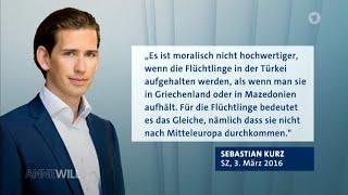Sebastian Kurz, eine bemerkenswerte Persönlichkeit ! Peinliche Momente bei Anne Will 06.03.2016 - Ba