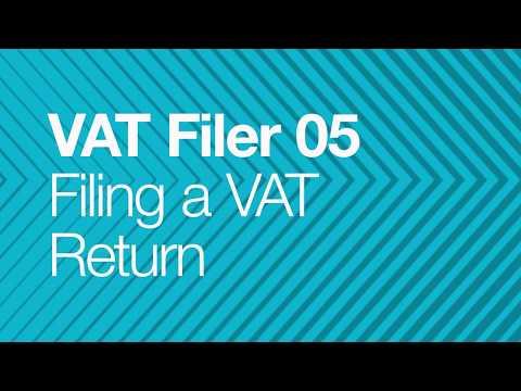 VAT Filer for Business - 05 - Filing a VAT Return