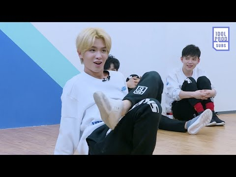 [ENG] Idol Producer EP8 Behind the Scenes: 《Dream》 Team practice time ft.  mischievous Justin
