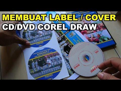 CARA MEMBUAT LABEL COVER DVD CD Dengan COREL DRAW