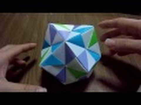 origamiおりがみくす玉の作り方