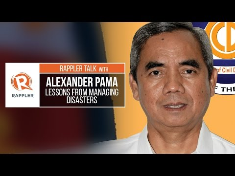 Rappler Talk: Alexander Pama on learning lessons from managing disasters