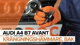 Underhåll Audi Q5 8r - videoinstruktioner