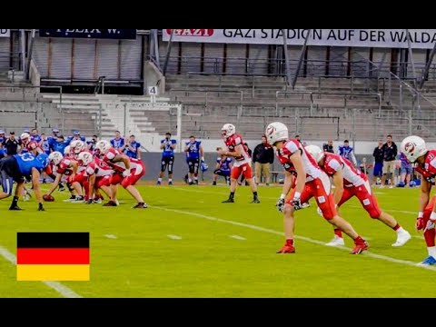 AMERICANS PLAYING FOOTBALL in GERMANY!!