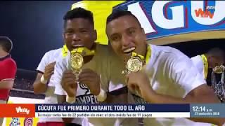 Cúcuta, el mejor equipo de 2018 en el Torneo Aguila