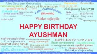 Ayushman   Languages Idiomas - Happy Birthday