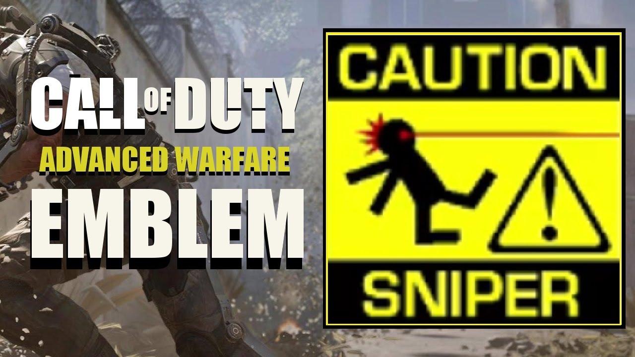 COD AW / Call of Duty Advanced Warfare : Caution Sniper Emblem ...
