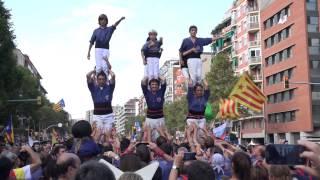 2015-09-11. Capgrossos de Mataró, Pilars de 4 amb 2 estelades, Via Lliure