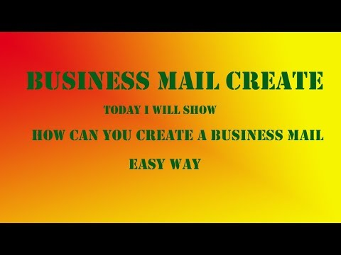 How can I create business mail thumbnail