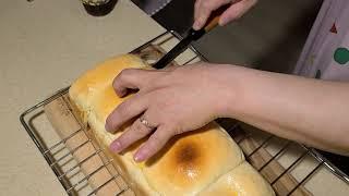 베닉스 반죽기 쌀우유식빵 홈베이킹 성공 !
