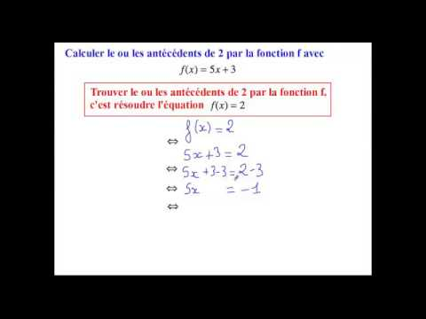 Notion de fonction calculer des antecedents dun nombre par for Calculer le nombre de parpaing