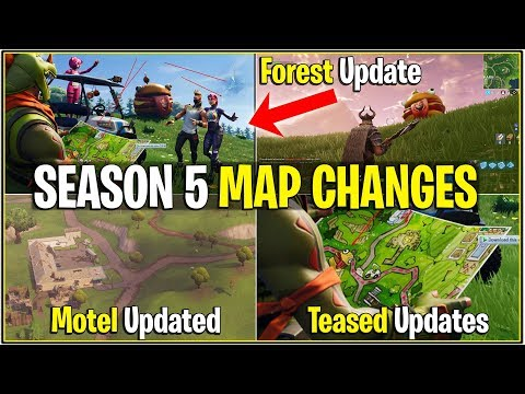 *NEW* Fortnite: LEAKED SEASON 5 MAP UPDATES/CHANGES! | (Forest, Updated Motel, and More!)