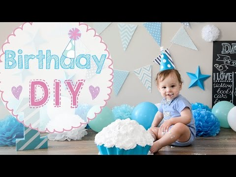 🎂 Baby Birthday 1 year party DIY   cake crash   how to make toddler BD party celebration awesome