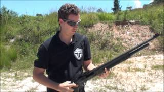 Munição calibre 12/76 com chumbo SG (ostentando água)