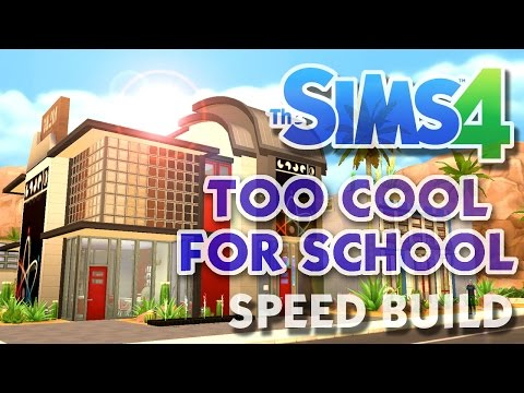 The Sims 4 -Speed Build- TOO COOL FOR SCHOOL! (Post-Modern A