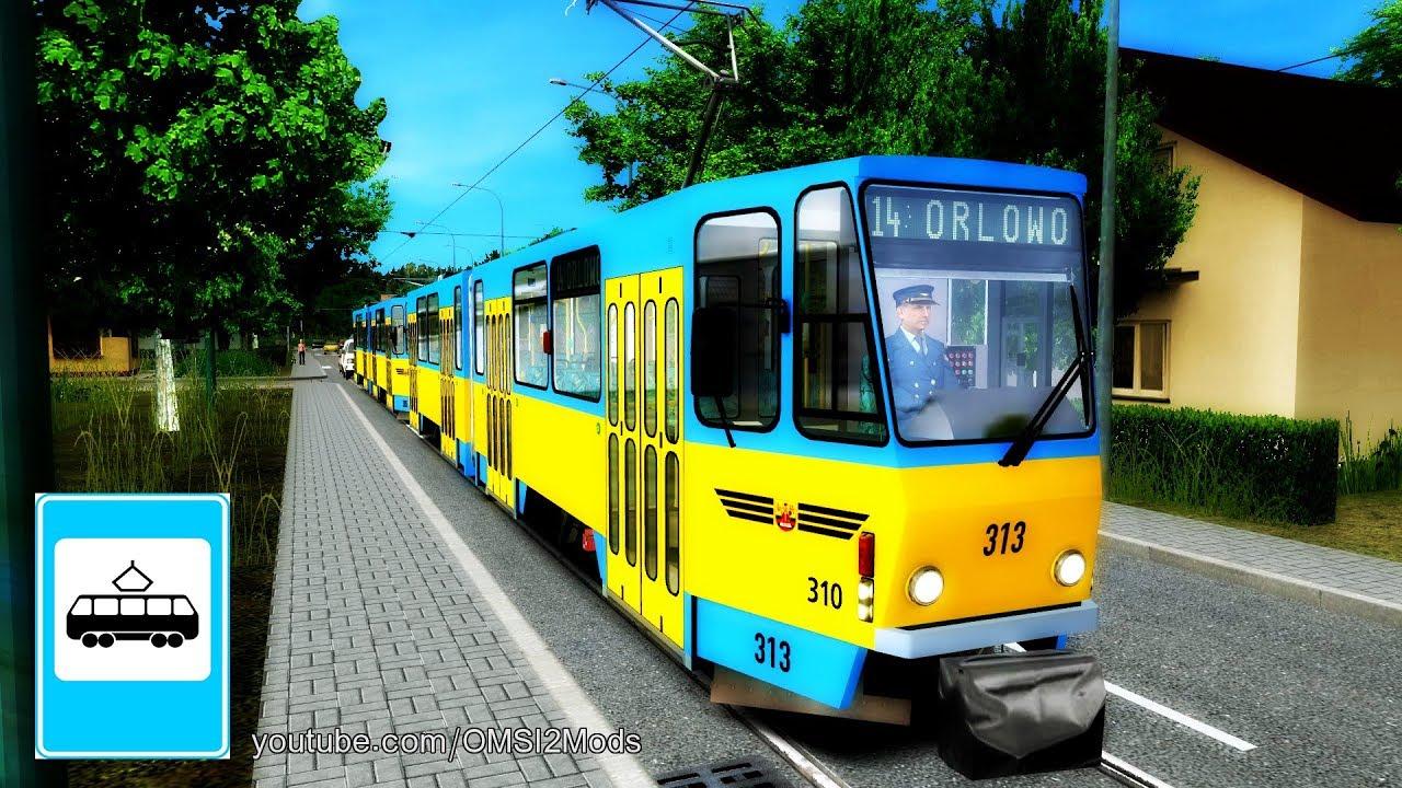 OMSI 2 TRAM - Podmiejska Tram CKD Tatra KT4D