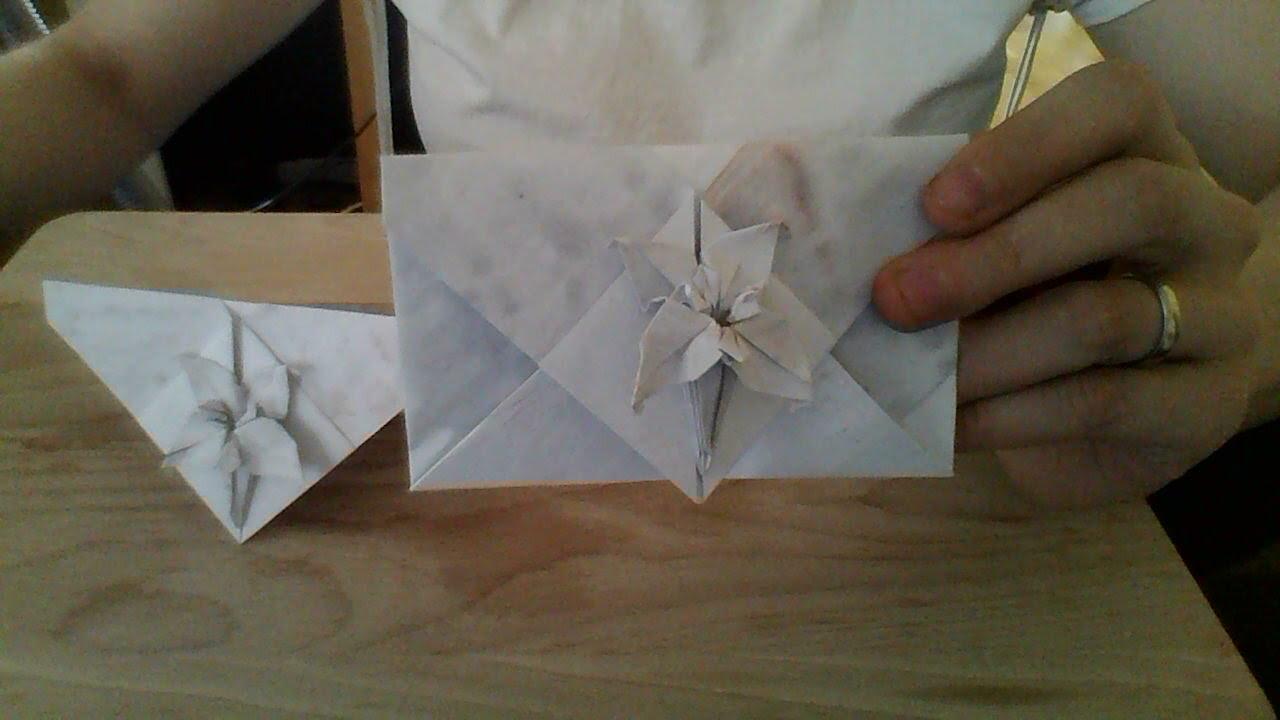 Origami lily envelope youtube origami lily envelope mightylinksfo
