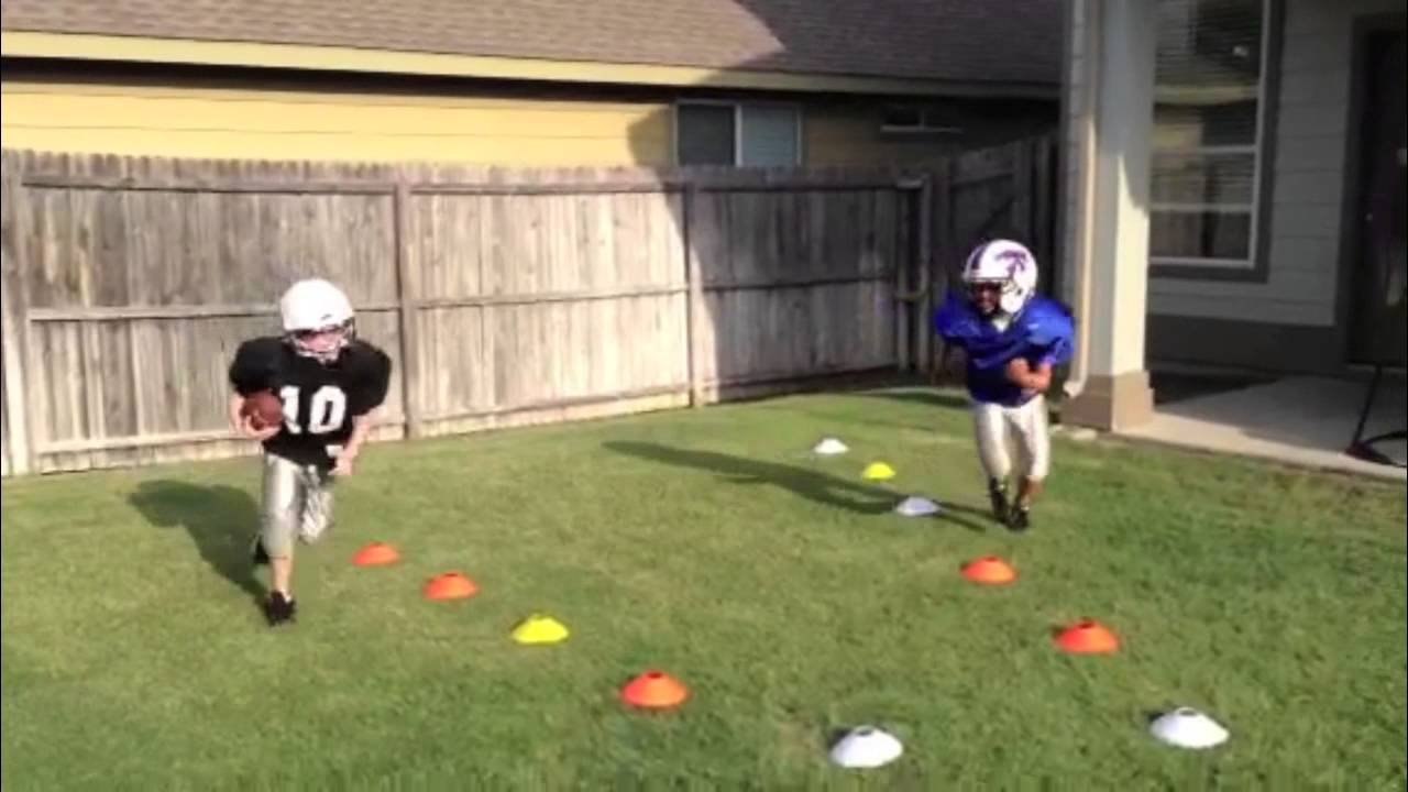 backyard football practice youtube