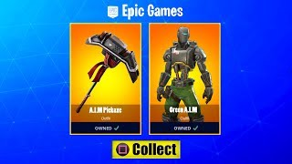 *NEW* GREEN A.I.M SKIN & PICKAXE FREE (HOW TO GET IT) Fortnite LEAKED Hunting Party STYLES EXPLAINED