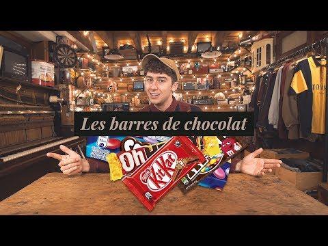 Les barres de chocolat