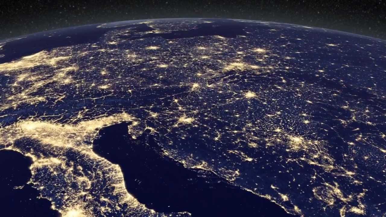 Nasa la terra di notte hd youtube for Foto spazio hd