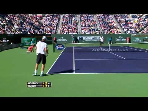 Roddick vs. Kubot Indian Wells 2012 R2 (HD)
