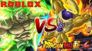 Super Saiyajin berserker vs Frieza Dourado no Roblox A Batalha