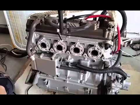 2008 Kawasaki 15 f motor cleaning prior to sale. - YouTube