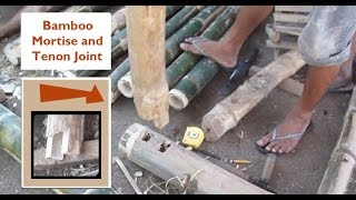 Making A Bamboo Mortise Tenon Joint - Cris Bamboo