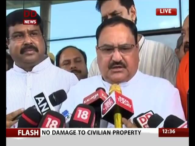 Union Health J P Nadda visits the victims of the Bhubaneshwar hospital fire