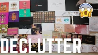 MAKEUP DECLUTTER │ AFFORDABLE  EYESHADOW PALETTE COLLECTION