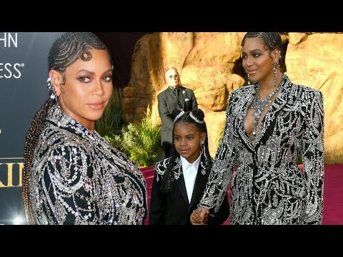 Watch Beyonce and Blue Ivy Slay 'The Lion King' Red Carpet in FIERCE Matching Ensembles