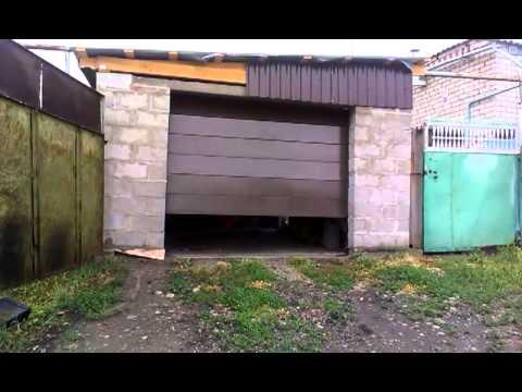 Гаражные складные ворота своими руками видео